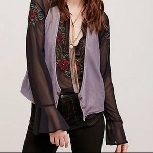FREE PEOPLE✨Rose Velvet Vibes Vest sz L